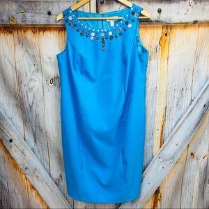 DRESS BARN Embellished Sleeveless Shift Dress